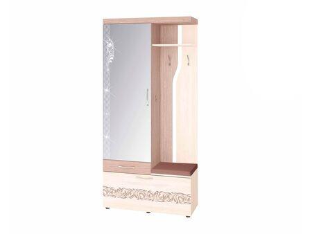 Панель с крючками комбинированная с зеркалом Мэри 39.07