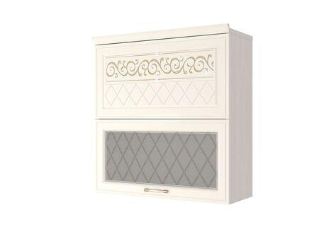 Шкаф-витрина кухонный (с системой плавного закрывания) Тиффани 19.81