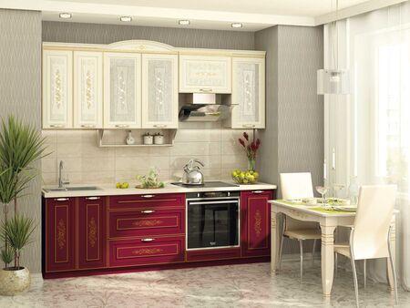 Кухонный гарнитур Виктория 2 (ширина 240 см)