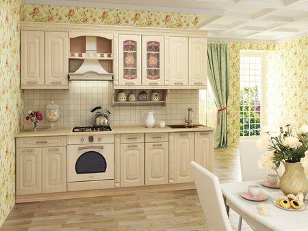 Кухонный гарнитур Глория_3 2 (ширина 260 см)
