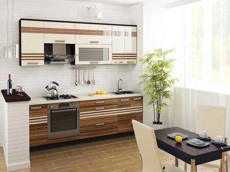 Кухонный гарнитур Рио 2 (ширина 240 см)