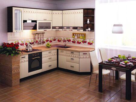Кухонный гарнитур угловой Аврора 1 (ширина 240х190 см)