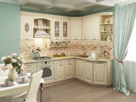 Кухонный гарнитур угловой Глория_3 1 (ширина 240x170 см)