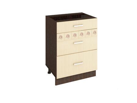 Стол кухонный (3 ящика с метабоксами) Аврора 10.66.2