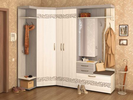 Угловой набор мебели для прихожей Мэри 1 (ширина 107х226 см)