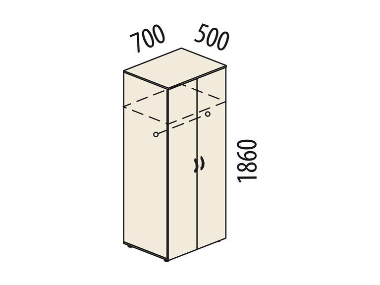 Гардероб двухдверный Рубин 41.33