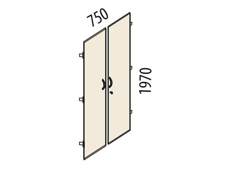 Двери ЛДСП 5 секций с замком Альфа 62.58