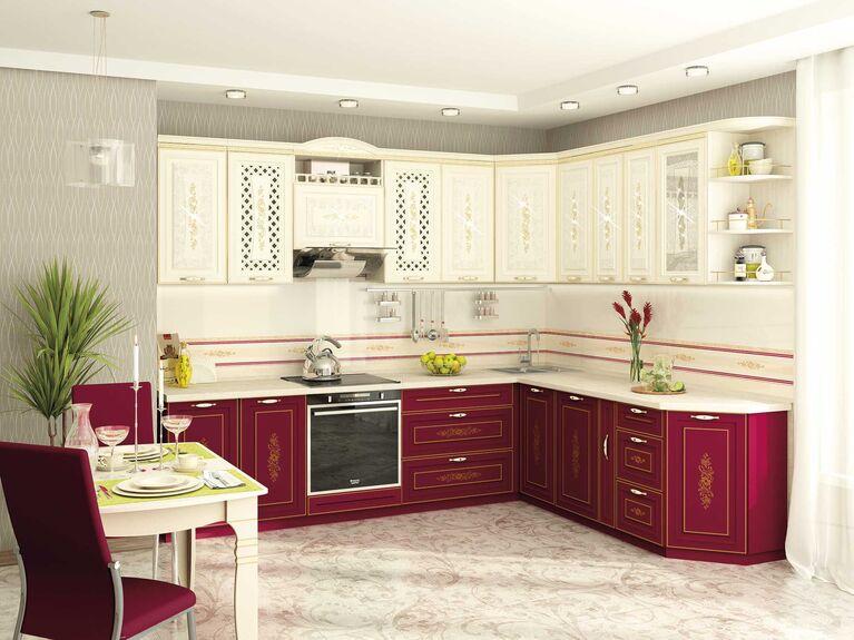 Кухонный гарнитур угловой Виктория 1 (ширина 280x230 см)