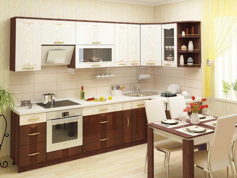 Кухонный гарнитур угловой Каролина 3 (ширина 300x130 см)